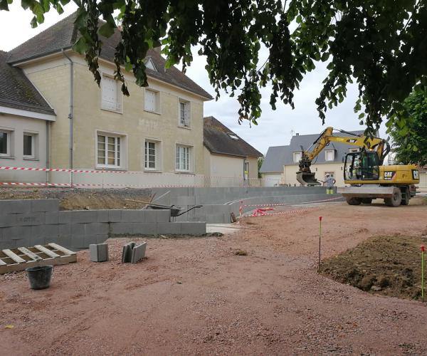 Place Robert Courteheuse en travaux